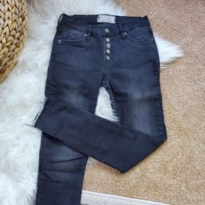 Free People black button fly jeans